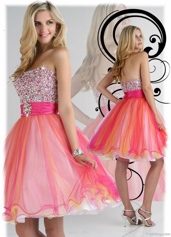2013 New Designer Hot Sale Strapless Lace Sexy Glamorous Ball Gown