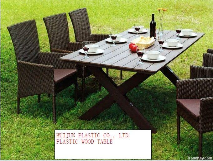 HJ Plastic Wood Table