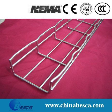 Pre-galvanized wire mesh cable tray