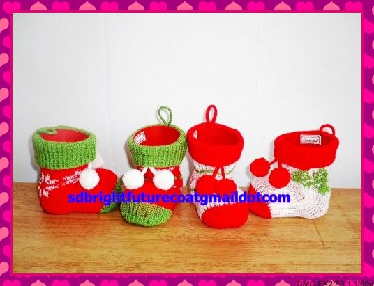 PE christmas candy boots in 7 different sizes