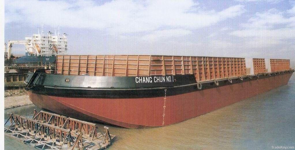steel cargo barge