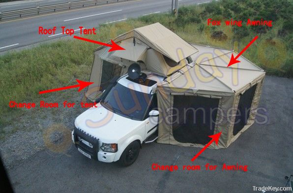 Car Roof Top Tent with Fox wing bat Awning