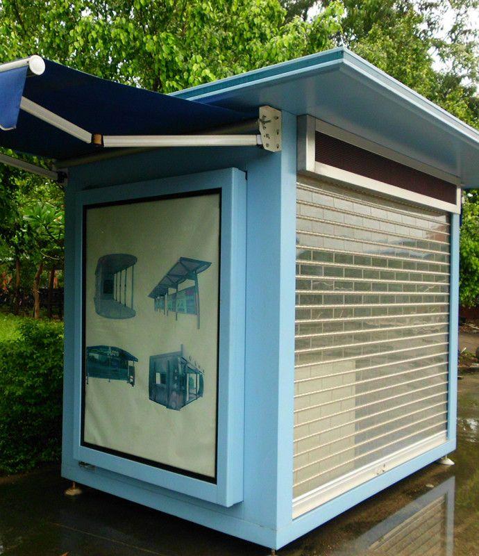 outdoor newspaper kiosk for sale/prefab outdoor retail kiosk design