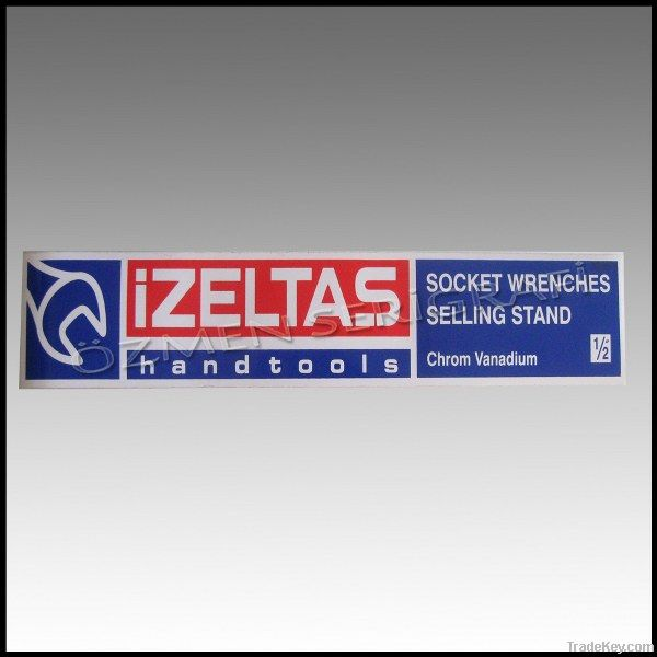 Sticker or PVC labels