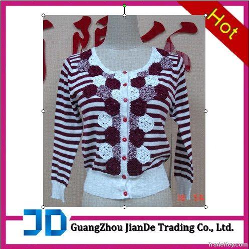 Fashion ladies' cardigan sweater