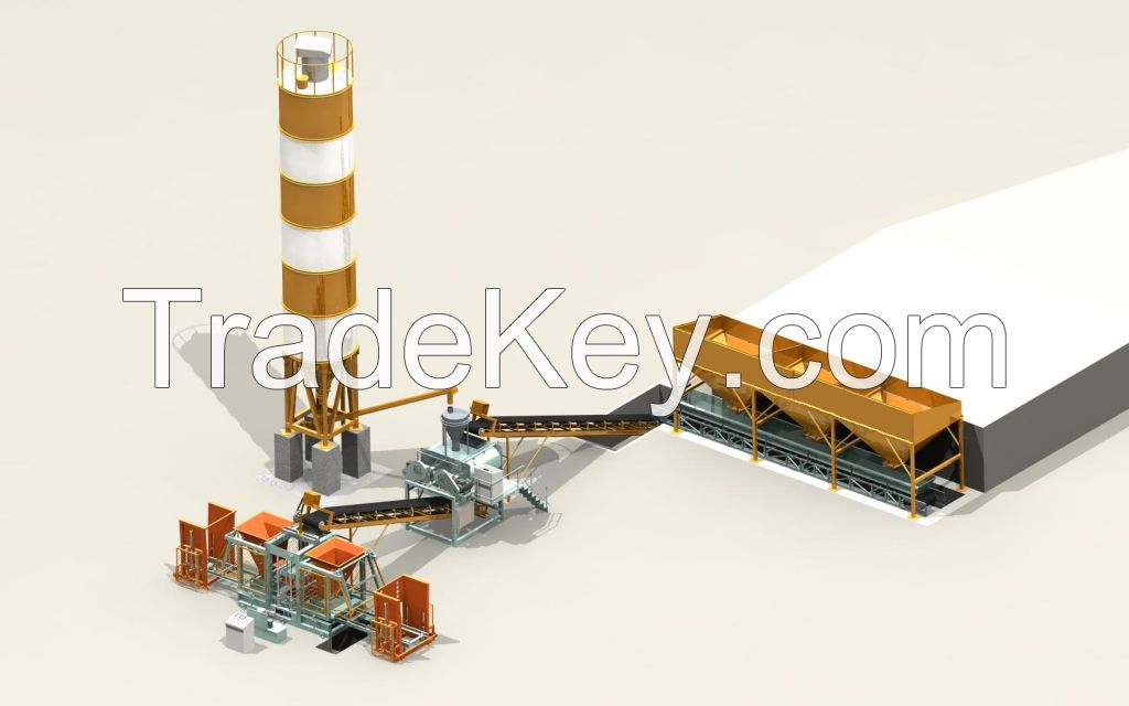 IDOMAC CONCRETE BLOCK AND PAVING STONE MAKING FACTORY