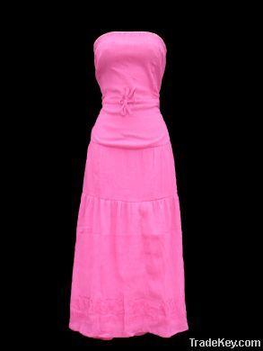 Ladies Pink Summer Maxi Dresses Pk of 12