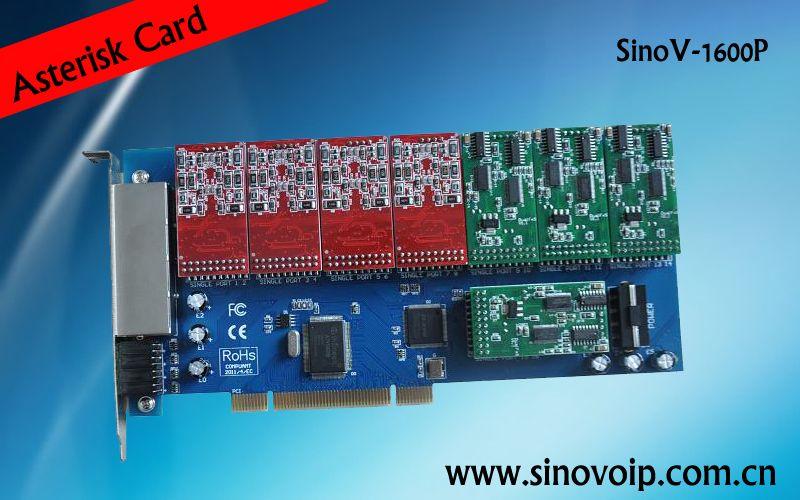 16 Port Asterisk PCI Card Analog Telephony Card