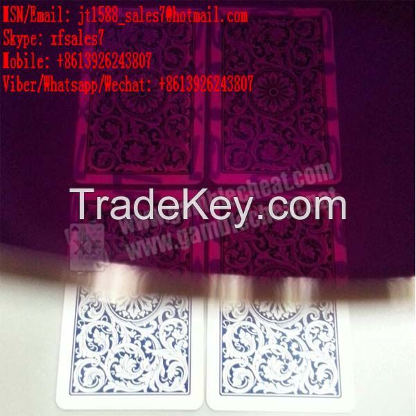 XF  new UV ink marked cards for UV contact lense/poker predictor/magnetic dice table/Remote Control Dices/Contact lenses