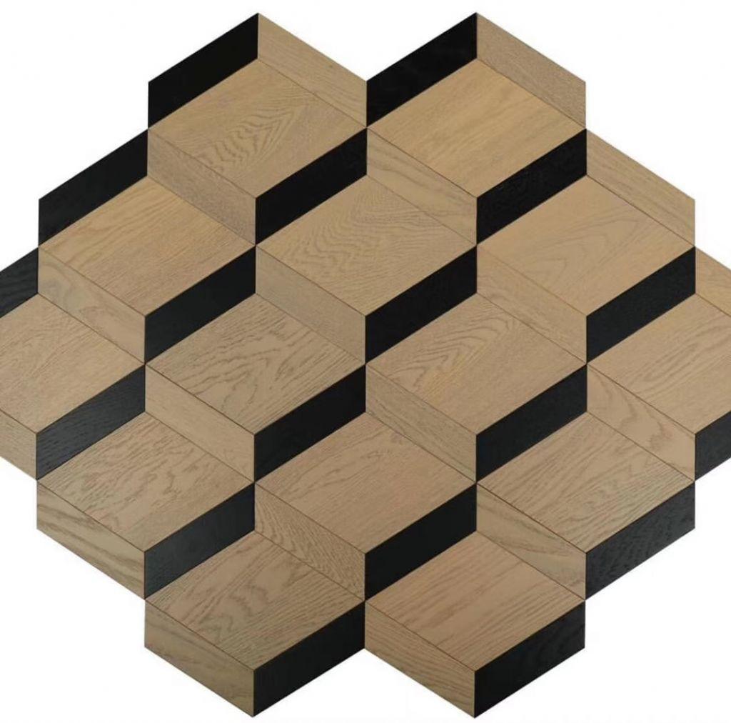 3D Design Parquet Rhombus Parallelogram