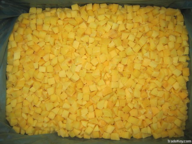 IQF Diced Peaches/  Diced Yellow Peach/ Frozen Diced Yellow Peach