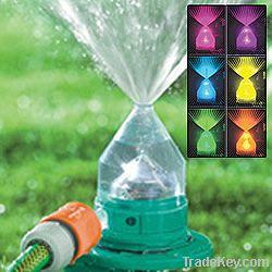 LED changing sprinkler