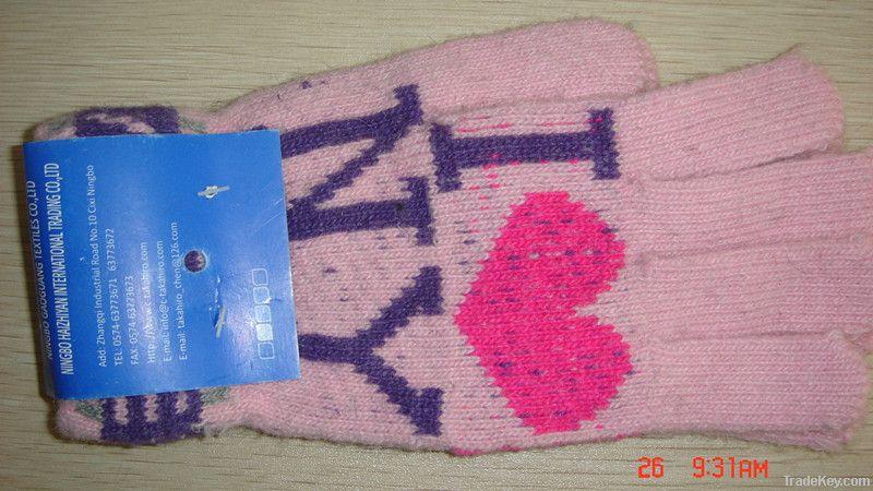 jacquard rabbit fur magic glove