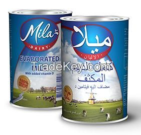 Evaporated and sweetened condensed milk EU-origin