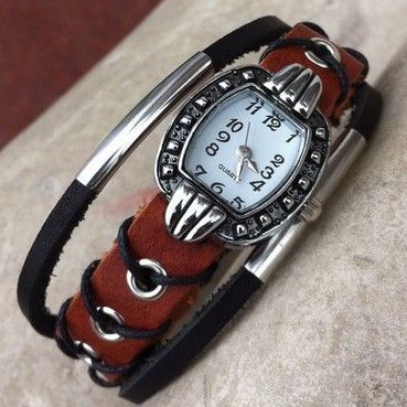 New Arrival Leather Band Watch Cow Leather Bracelet Watch Quartz Watches Vintage Watches Free Shipping