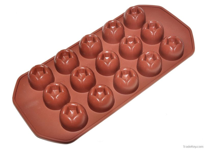 chocolate silicone ice cube tray/silicon ice tray