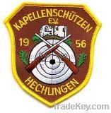 OEM school emblem woven Embroidery patch