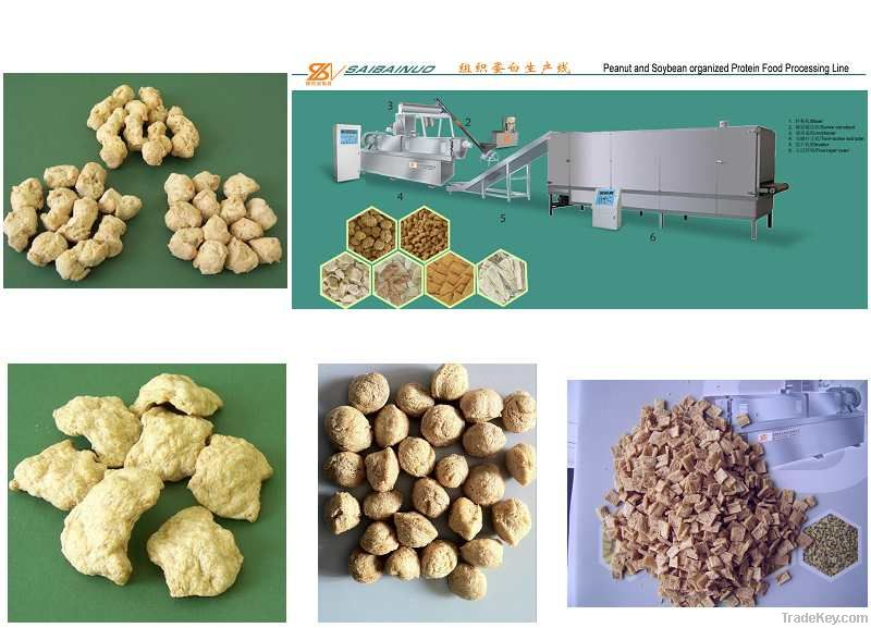soya nuggets  protein production plant machine