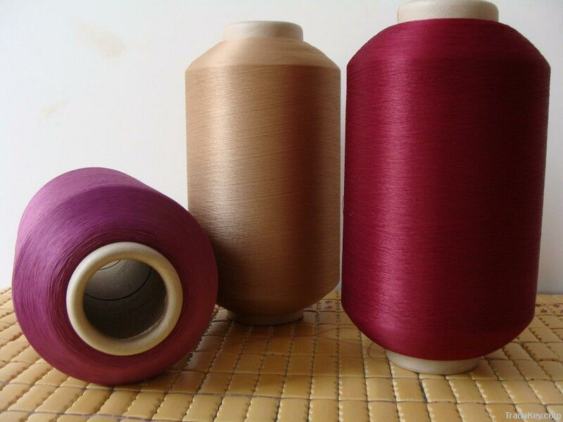 nylon6 / polyester twisted yarn