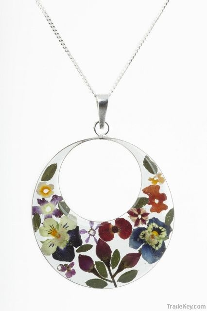 Sterling Silver Jewellery with 'Real Flowers'