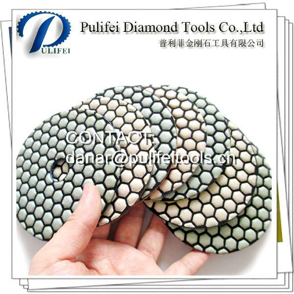 Granite Dry Diamond Polishing Pad For Electric Angle Grinder