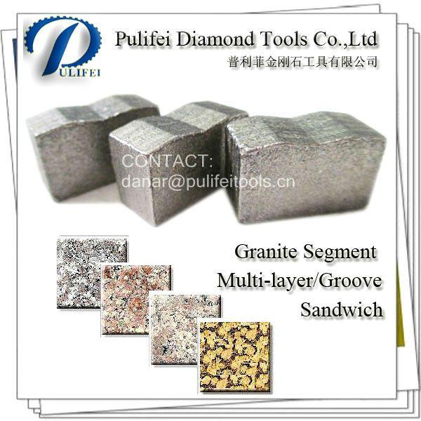 Granite Diamond Saw Segment For Granite Segmented Saw Blade