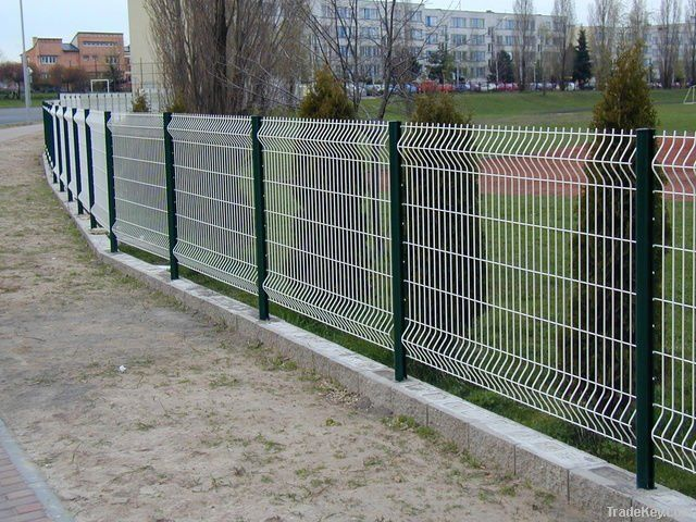 Pvc Coated Fence Welded Wire Mesh Panel Post