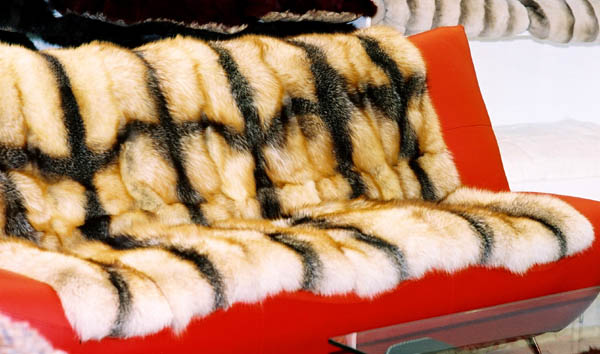 Real Mink Rex Fox Fur Blanket