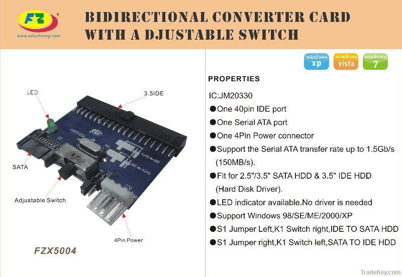 sata to ide or ide to sata bilateral converter card