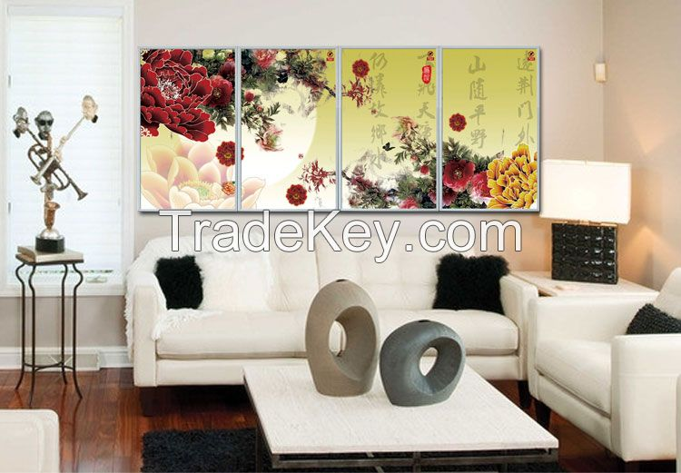 wall picture electricity heater,energy-saving far infrared carbon crystal heating panels