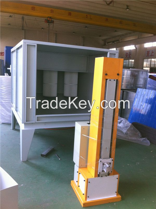 powder coating booth for metal parts
