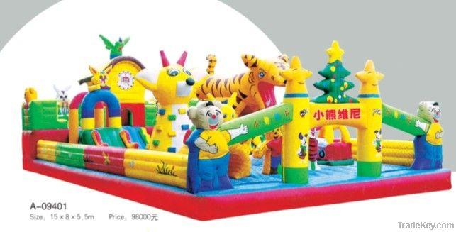 Amusement park children inflatable castle