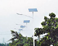 DC 24V / 70W metal halide ballast solar powered street lighting system