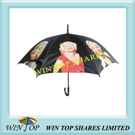 Auto Straight Photo Printing umbrella