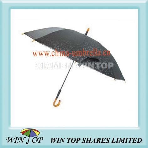 21 inch hand open Straight Ladies Lace Umbrella