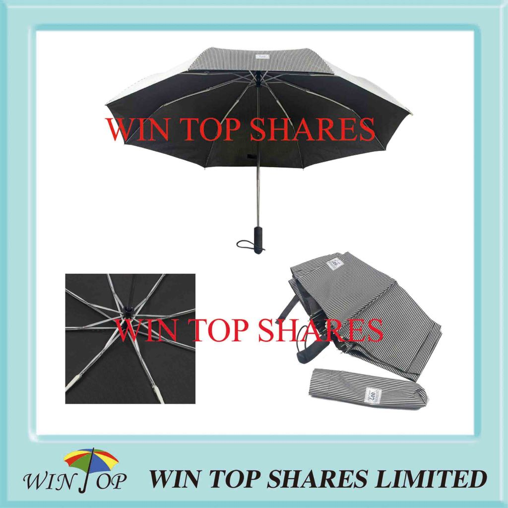 Fashion Pop up Automatic Umbrella with Lines