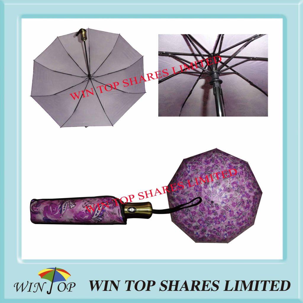 Chinese Super Luxury Full Auto Folding Umbrella