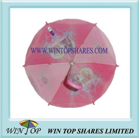 18 inch Princess design fiberglass Child Umbrella
