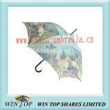 "23"" Heat Transfer Printing Wood Art Umbrella"