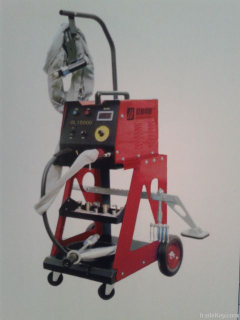 Aluminum body sheet repair machine