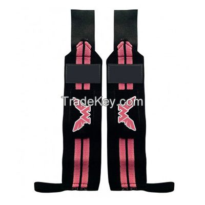 Weight Lifting Training Wrist Support Wraps Gym Cotton Bandage Straps With Custom Label