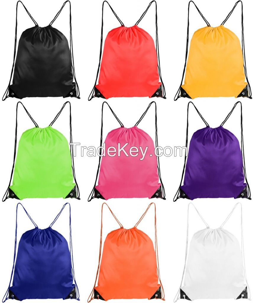 Women Men Drawstring Beach Bag Sport Gym Waterproof Backpack Travel Sack Bag