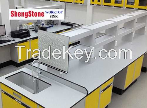 Lab phenolic worktop,double side corrosion resistant physical and chemical board worktop