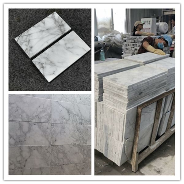 Arebeskato white marble tile