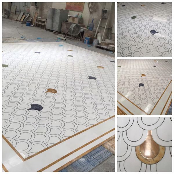 Medallion water jet panels