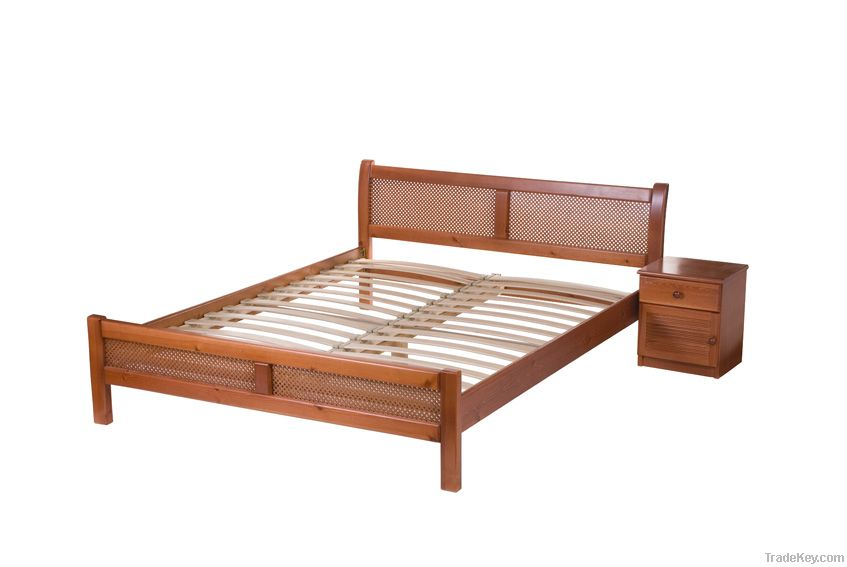 Perfect - solid hard wood bed (beech, pine)