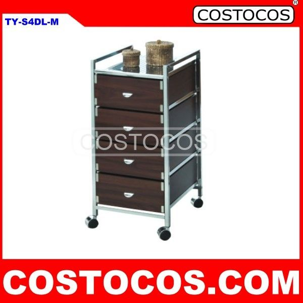 5 - DRAWER WOODEN DRAWER TROLLEY