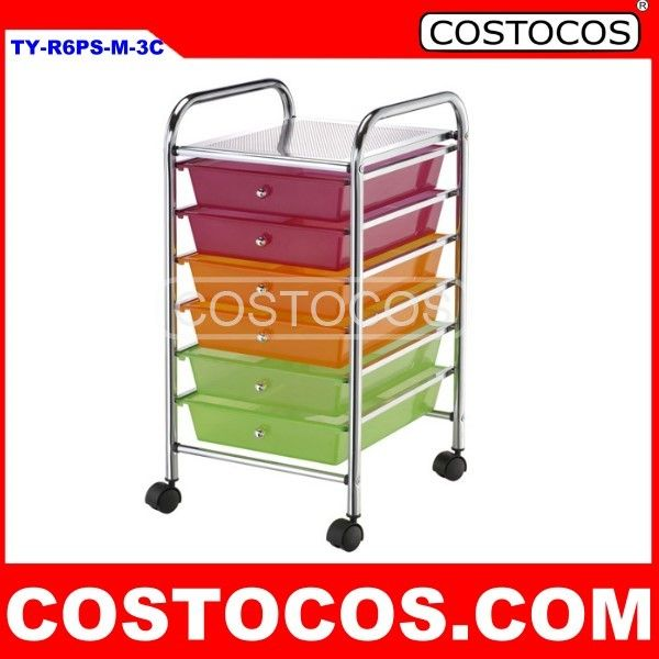Multi-Color 6 - Drawer Trolley (Storage Cart)