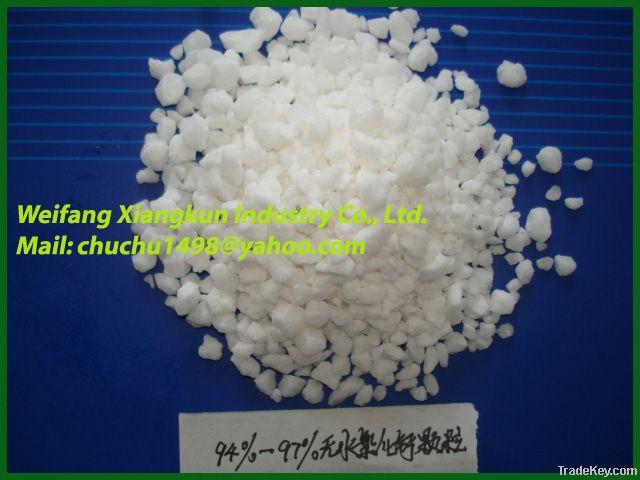 calcium chloride anhydrous 90%, 94-97% powder, granule, falke cacl2