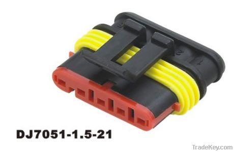 2pin black female waterproof auto connectors